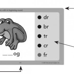 Hot Dots Phonics Digraph Card click to enlarge