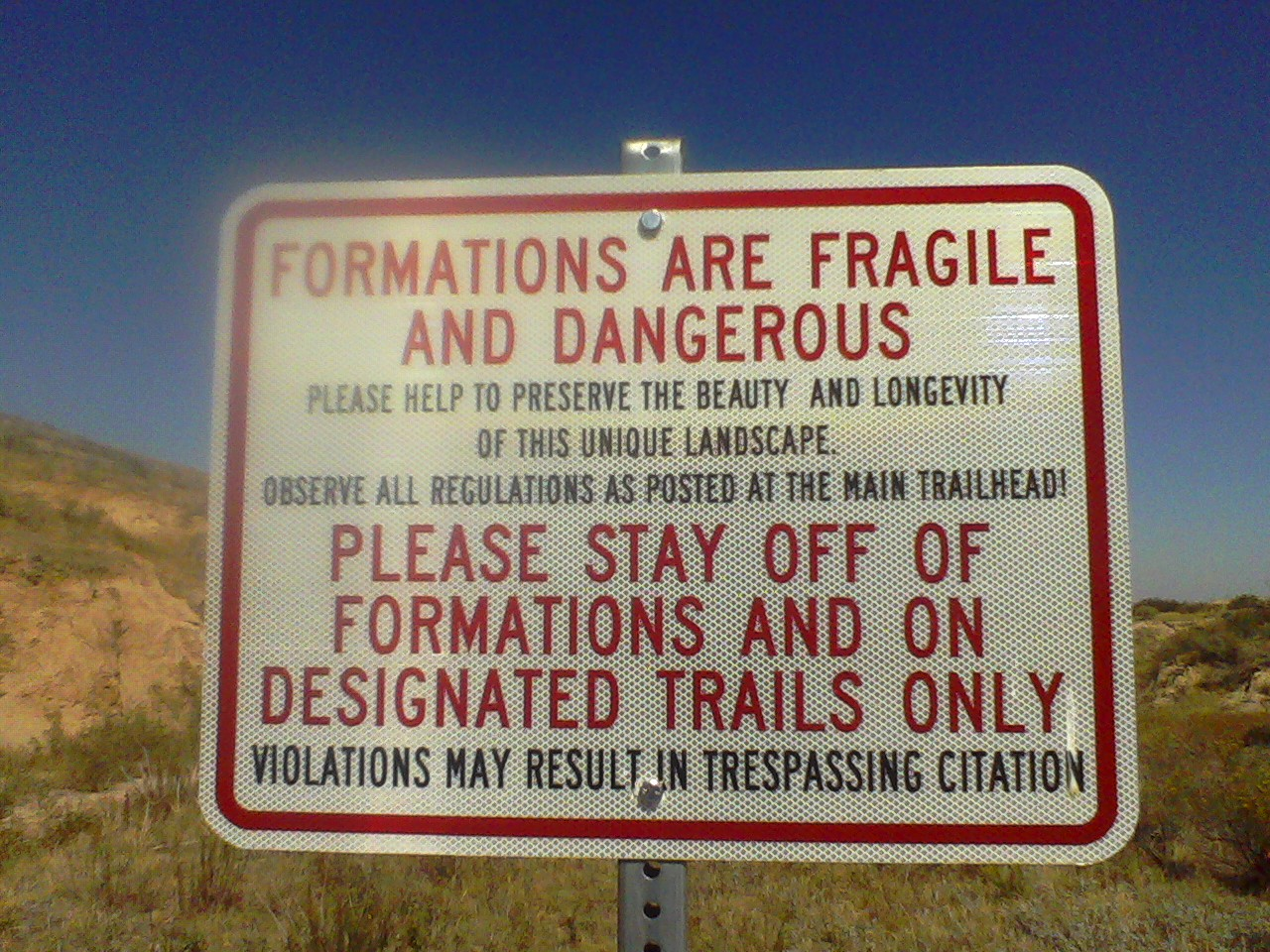Paint Mines Warning Sign
