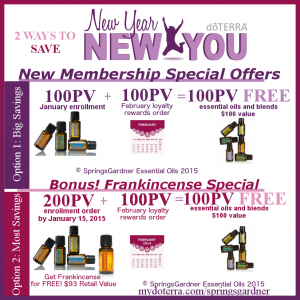 January Frankincense New Year New You Special