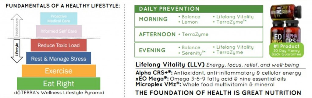 doTERRA wellness pyramid and LLV